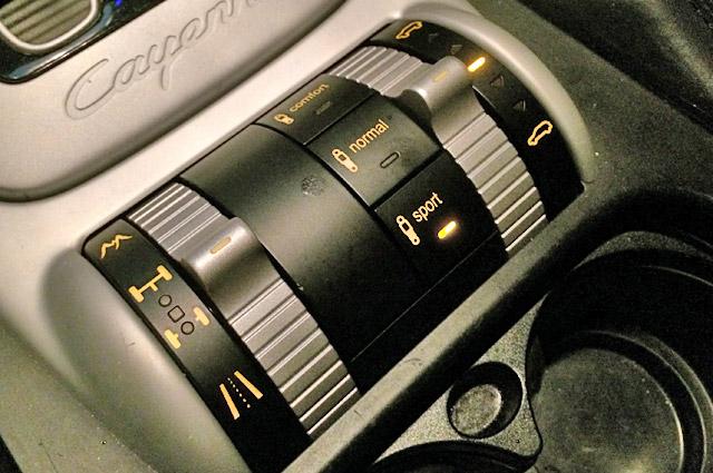 カイエンの4WDデフロック、エアサスペンション、車高調整