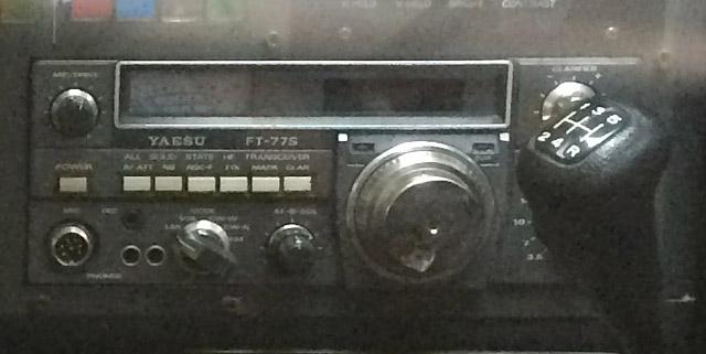 西部警察スカイライン、ヤエスFT-77S無線機装備
