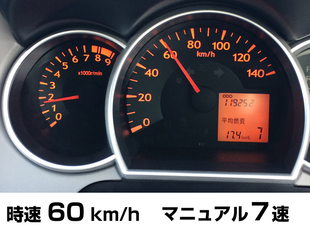 時速60km/h マニュアルモード7速