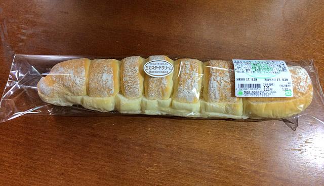 購入した手作りカスタードスティックパン