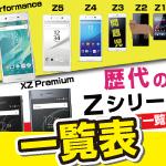 ドコモXperia XZPremium、Zシリーズを比較。中古スペック一覧表