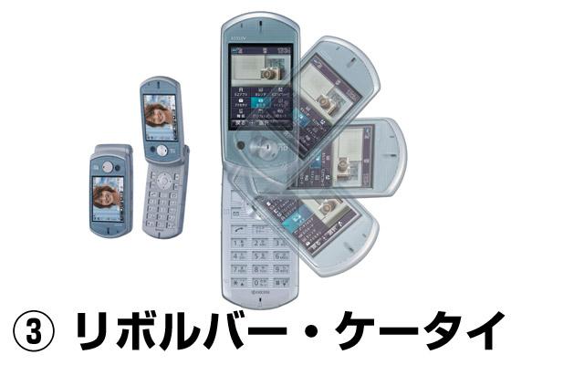 京セラ・A5502K、リボルバーケータイ