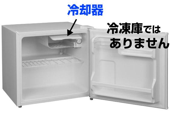 冷却室であり、冷凍庫ではない