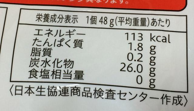 こがねもち米の品質栄養表示