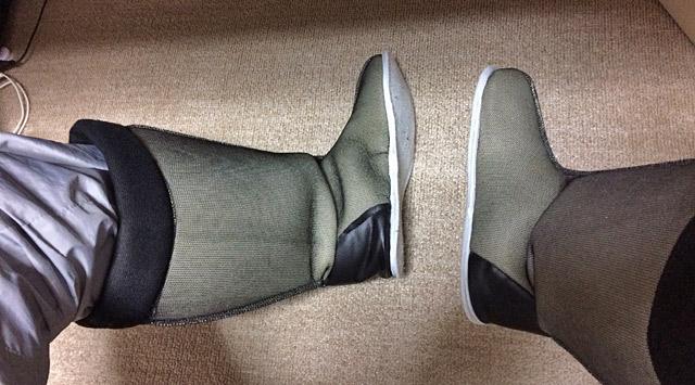 室内用ブーツの暖かさ