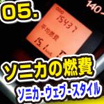 05_実際に走ると、実燃費は11~14km   - ソニカ ウェブ スタイル in 札幌 -