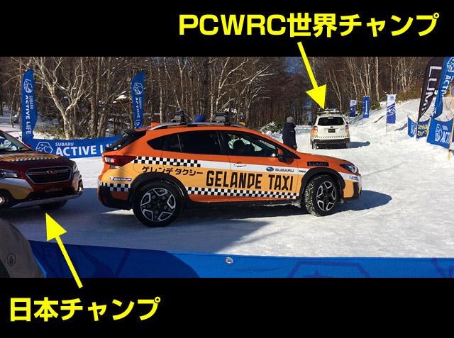 WRCチャンプと日本ラリーチャンプ