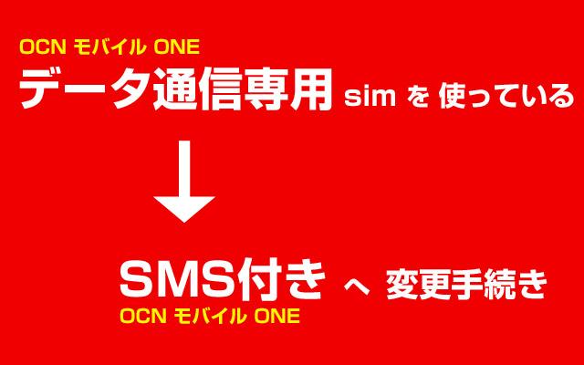 データ通信専用からSMSsimに契約変更
