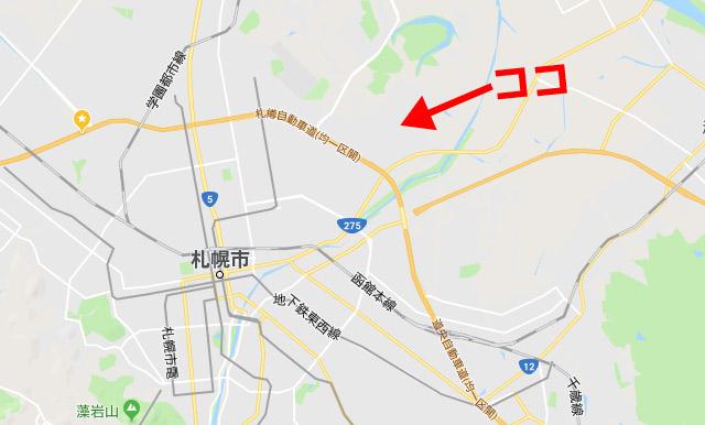 ビハニ札幌東苗穂店の地図1