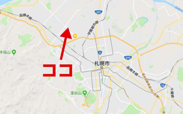 札幌の軽自動車協会の地図1