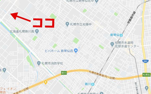 札幌の軽自動車協会の地図2