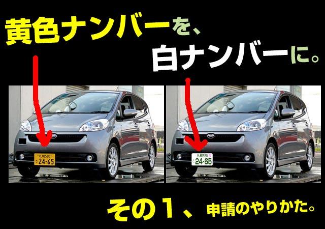その1.軽自動車を白ナンバーに。ラグビーナンバーの申請方法とやり方。
