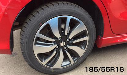 RSTのタイヤサイズは、185/55R16インチ