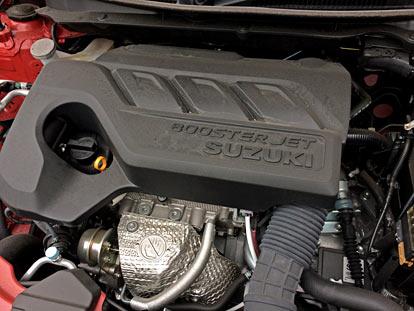 スイフトRStは、1000ccブースタージェットターボエンジン