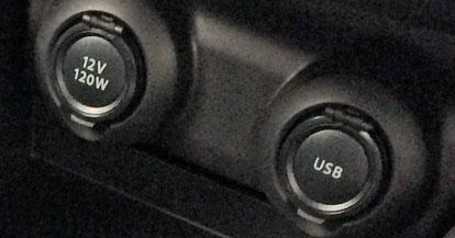アクセサリーソケット、USB充電ソケット