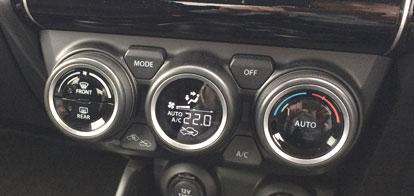 使いづらいインパネのエアコン操作ボタン