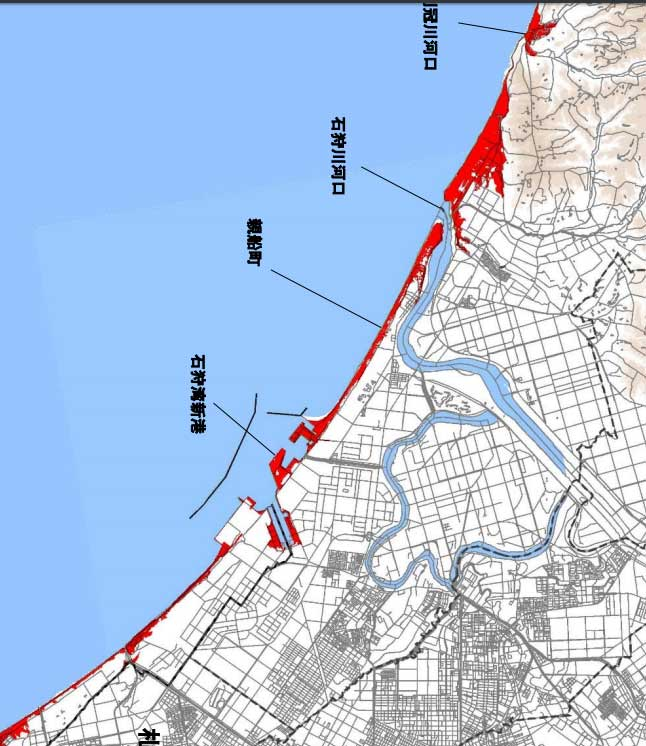 石狩の津波予測