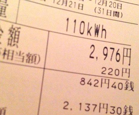 エアコン暖房、19℃設定の1ヶ月の電気代 3,000円