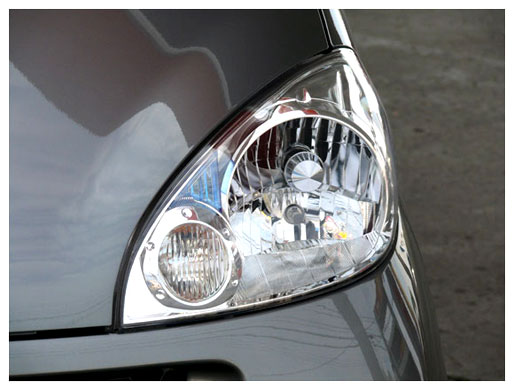 新車時のヘッドライトの透明度