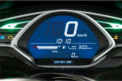 新型JF81PCXのデジタルスピードメーター