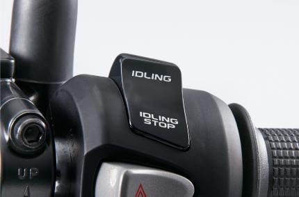 新型JF81PCXのアイドリングストップ機能スイッチ