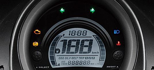 ヤマハ新型N-MAX125のデジタルスピードメーター
