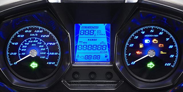 カワサキJ125,キムコ新型DownTown125iのアナログスピードメーター