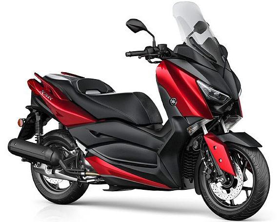 ヤマハ・ビッグスクーター新型X-MAX125 レッドカラー