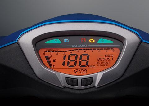 スウィッシュ125のデジタルスピードメーター