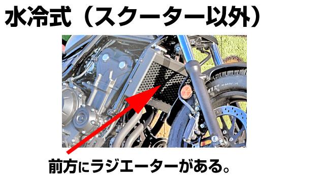 エンジン水冷式バイク