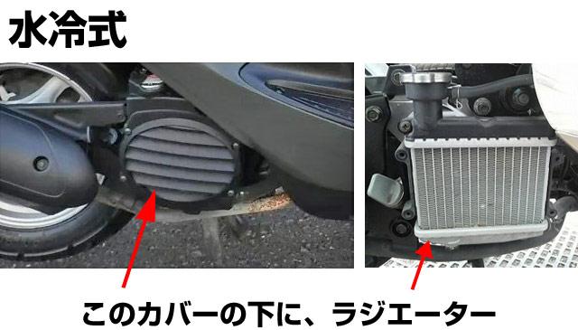 エンジン水冷式スクーター