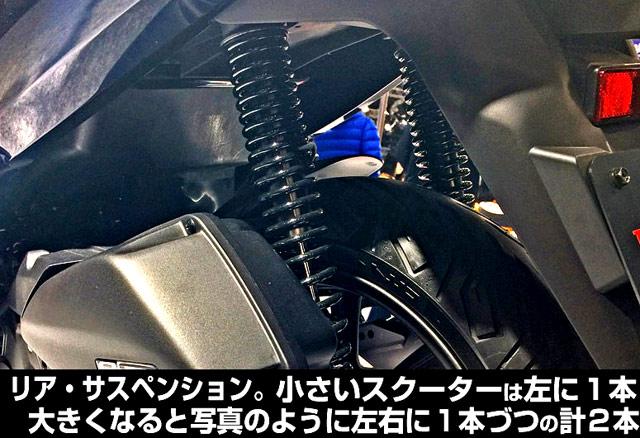 125ccのサスペンションについて