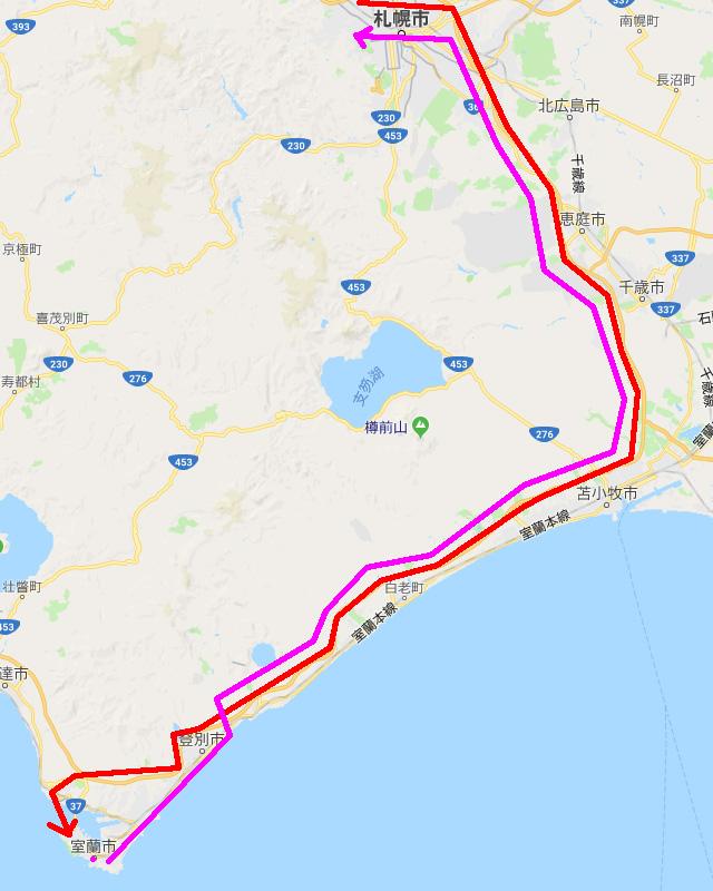 今回は高速道路を往復で300km走行した。