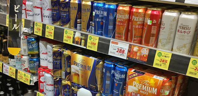 缶ビールはまったく売れていない。