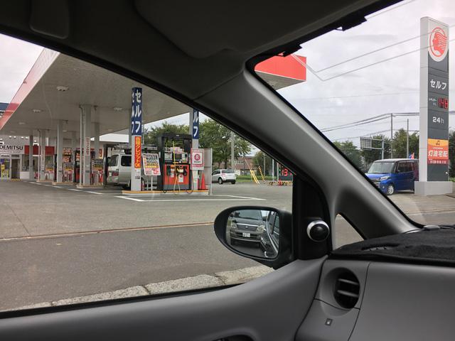ガソリンスタンドは営業中。