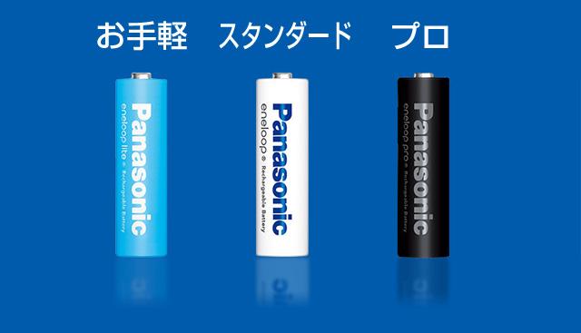 震災にも使える充電電池エネループ