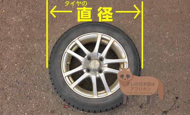 タイヤの直径外周はゴムの磨り減りで小さくなる。