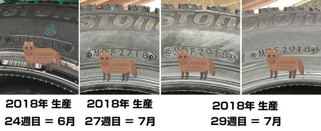 ネットで購入したタイヤは古い?新しい?結果は当年の6月生産でした。