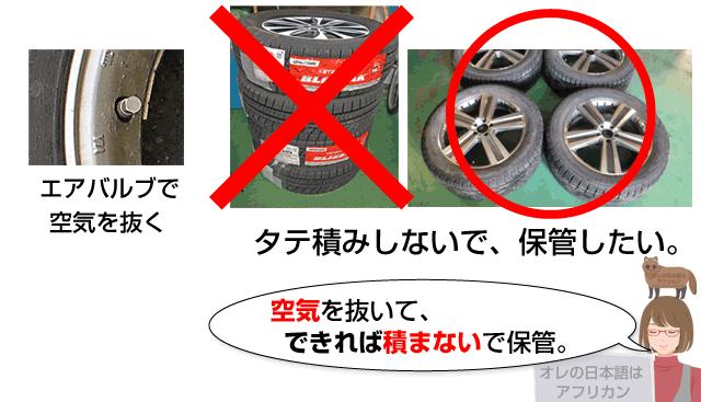 冬タイヤの正しい保管方法