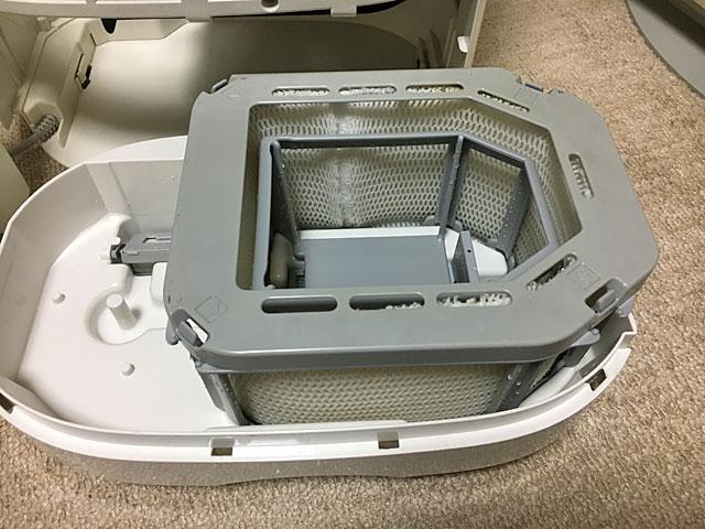 気化式加湿器を分解