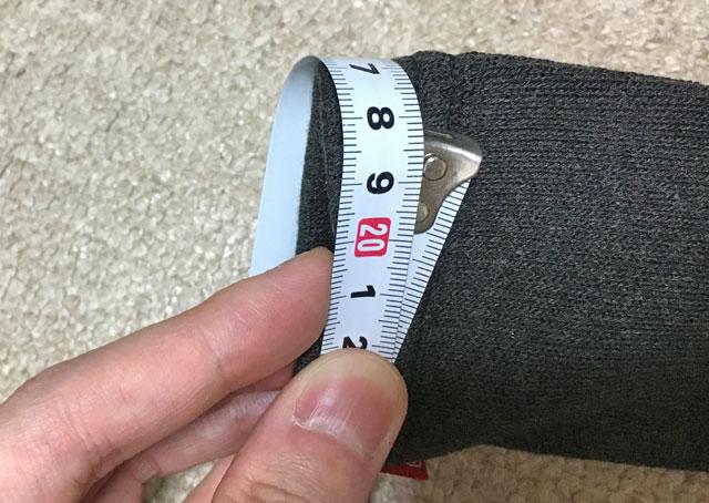 円周、18.5cm
