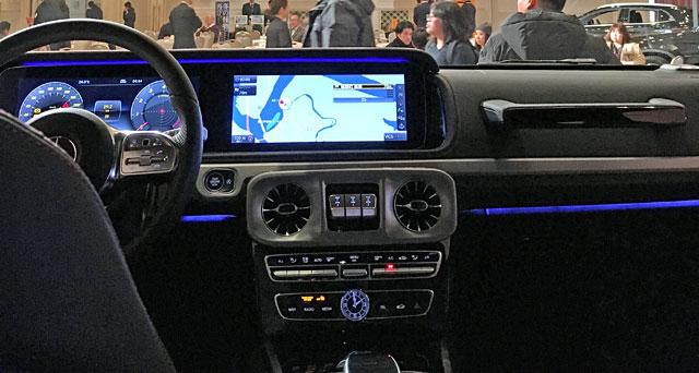 G 550の運転席デザイン