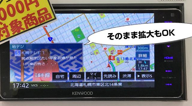 スライドでテレビを表示させることができる。