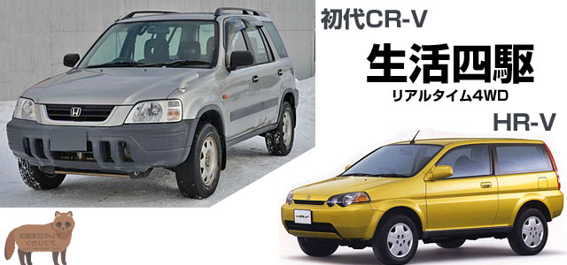 スタンバイ式・リアルタイム4WD、初代CR-VとHR-V