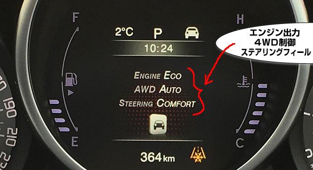 エンジン出力やハンドリングプログラムの変更