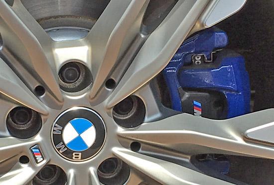 BMW X4 M40iのディスクブレーキ