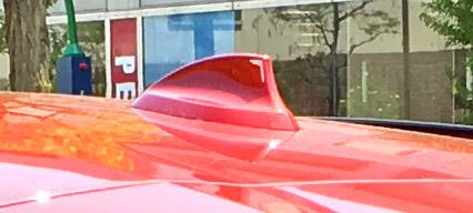 BMW X4 M40iのシャークフィンアンテナ