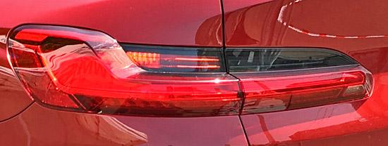 BMW X4 M40iのテールライト