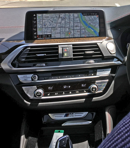 BMW X4 M40iのインパネナビについて