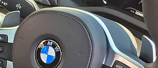 BMW X4 M40iのパドルシフト